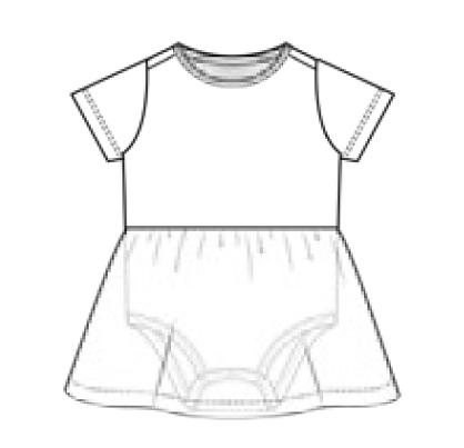 Bodyklänning - kort ärm