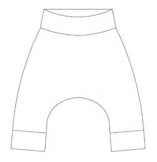 Baggy-slim byxor