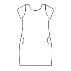 Smart dress kort ärm