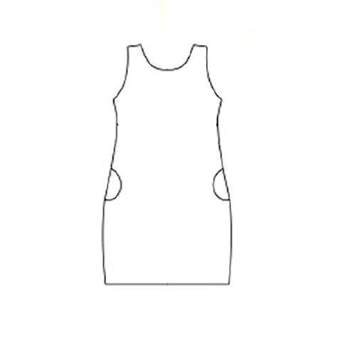 Smart dress Ärmlös