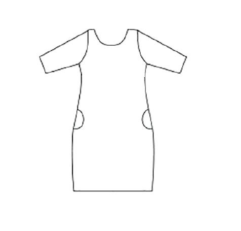 Smart dress 3/4 ärm