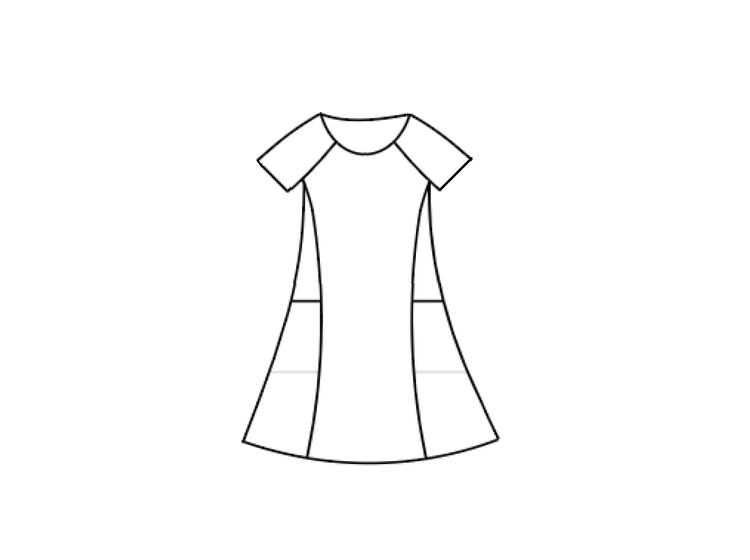 Klänning med stora fickor