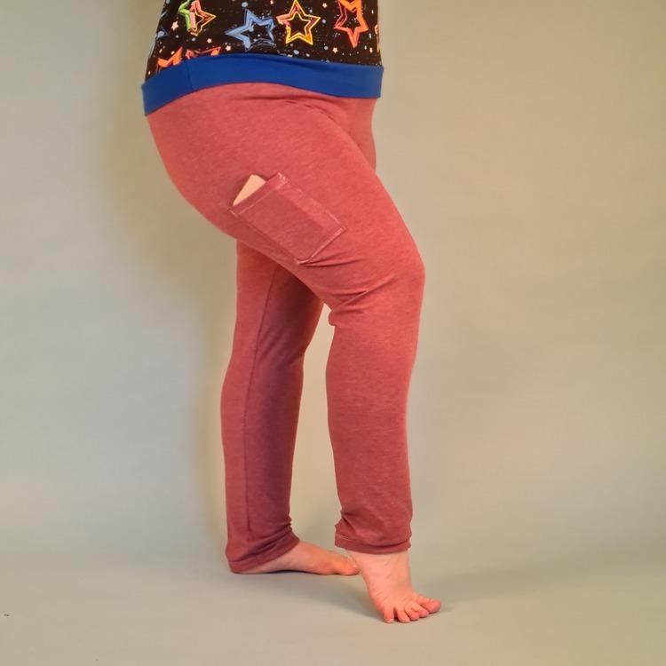 Leggings med mobilficka