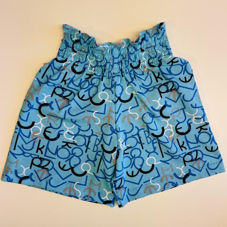 Shorts med smock-midja