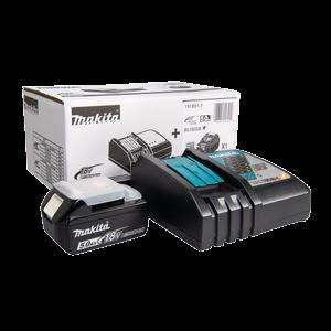 MAKITA Snabbladdare och ett 5,0 Ah batteri., 18V