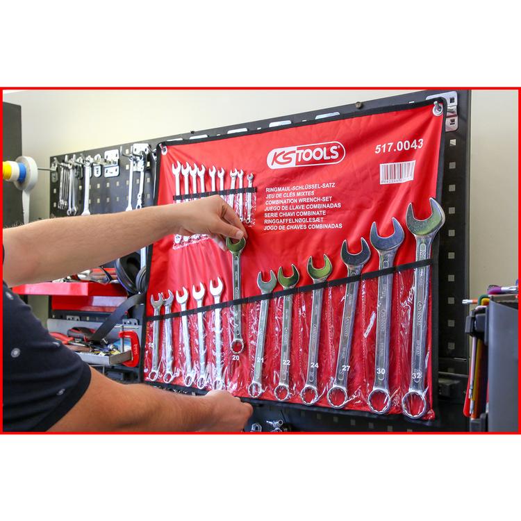 KS Tools U-ringnyckelsats, vinklad, 21-delars 6-32mm