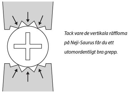 NEJI-SAURUS GT SKRUVTÅNG