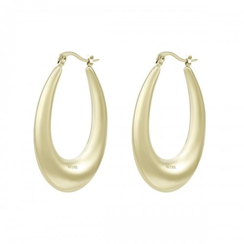 Bud To Rose Earring Arc Long Gold