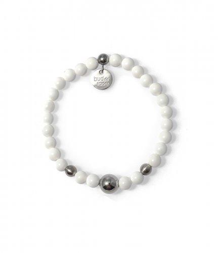 Brea Armband- White/steel