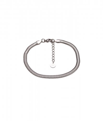 Bud To Rose Ankle Chain Steel