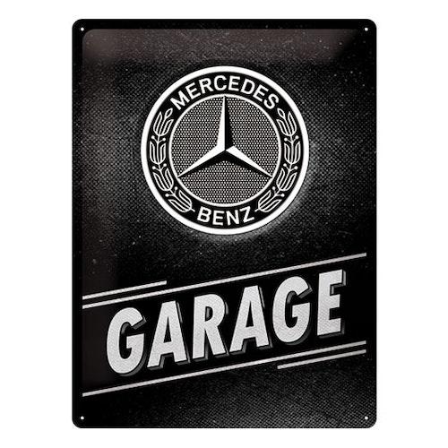 Plåtskylt Mercedes-Benz Garage