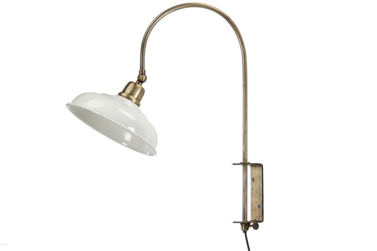 Vägglampa  Emalj Shell