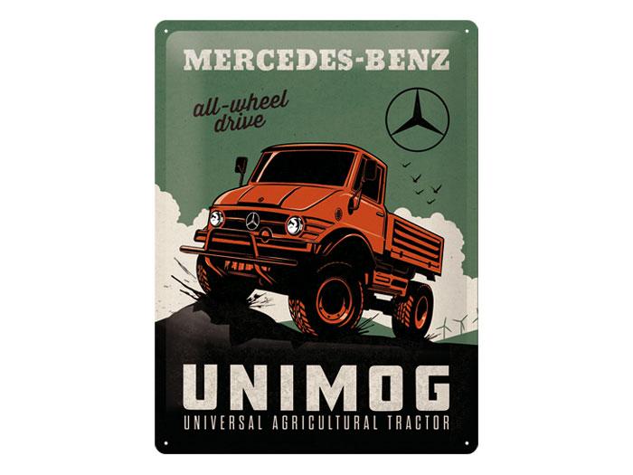 Plåtskylt Mercedes-Benz Unimog