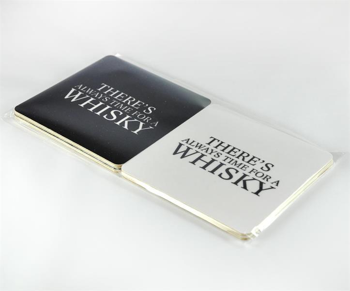 Glasunderlägg Whisky 4 pak