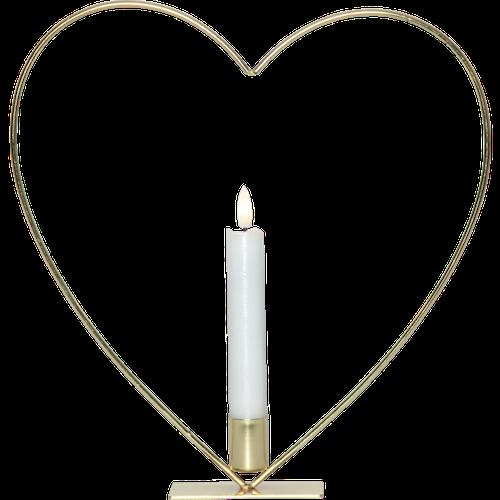 Hjärta med ljus Batteri med timer