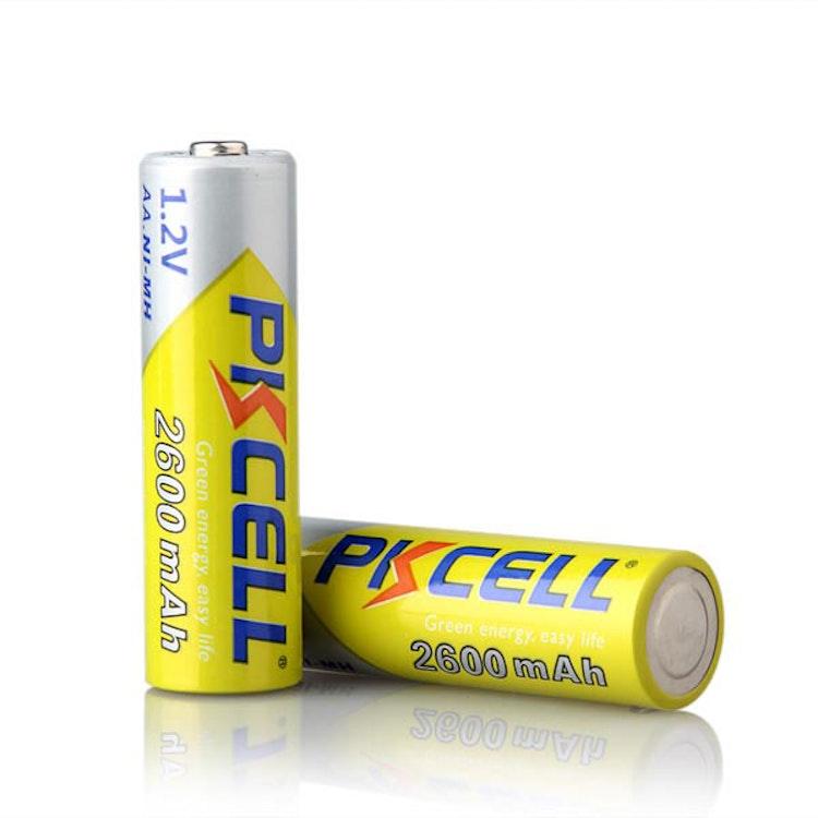 Uppladdningsbara AA-batterier HR06 1,2V 2600 mAh - 4 Pack