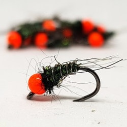 Orange Fluo & Black.