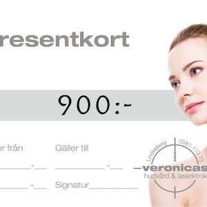Presentkort 900 kronor