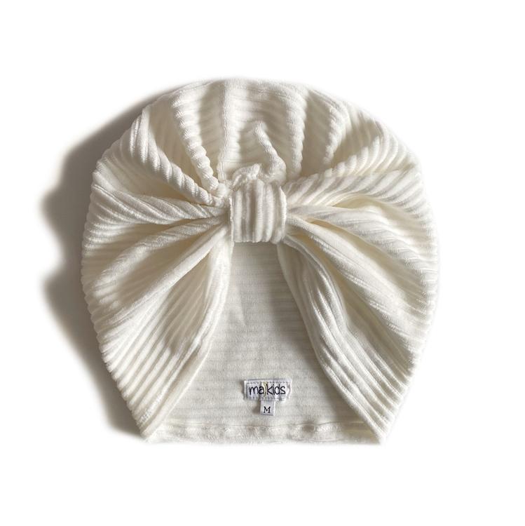 Turban -  Offwhite velour med manchesterlook