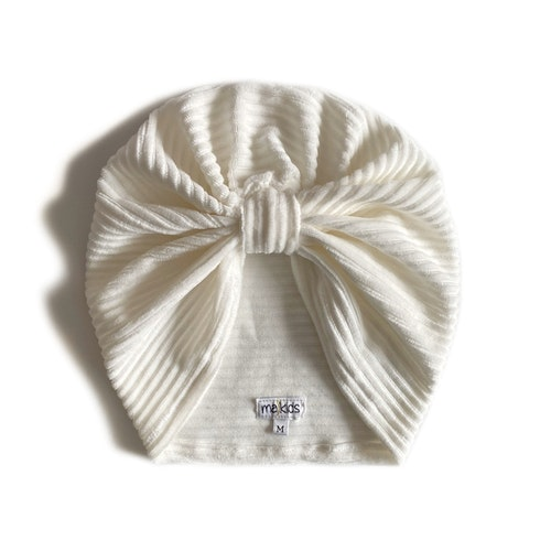 Turban -  Offwhite velour med manchesterlook