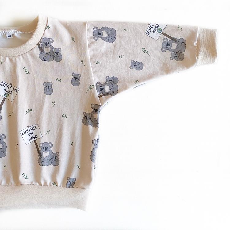 Sweatshirt - Koala Statement beige