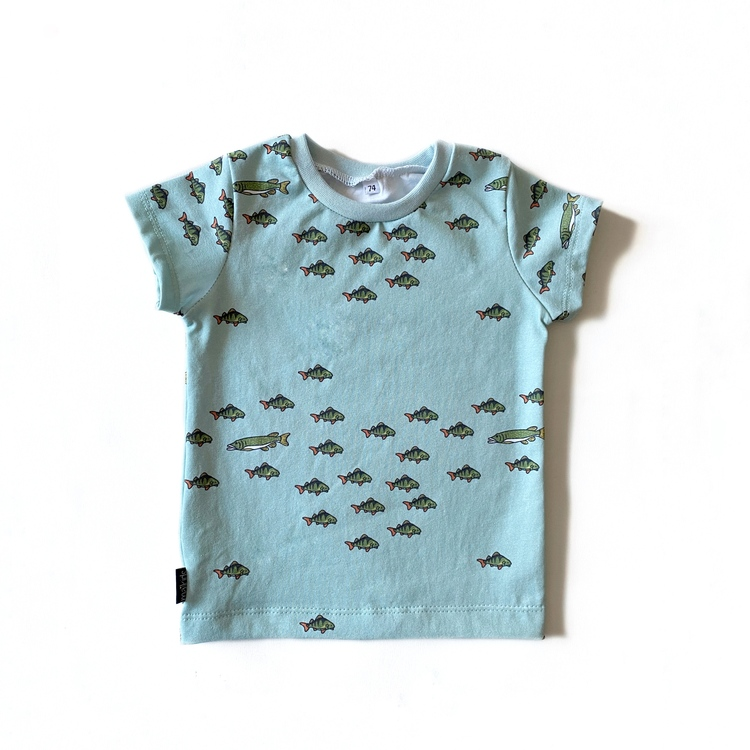 T-shirt - The Pike dusty mint