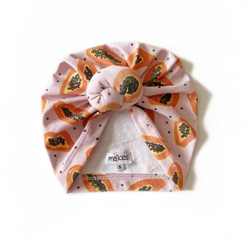 Top Knot Turban -  Papaya
