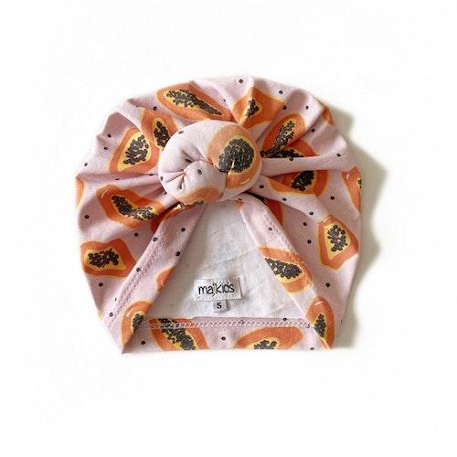 Top Knot Turban -  Papaya