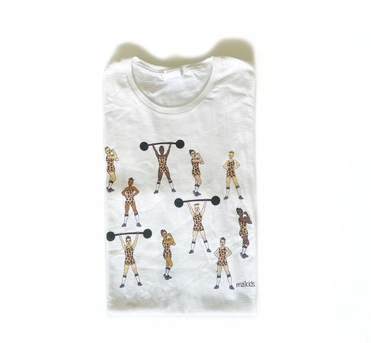 T-shirt med starka tjejer (leo) - vuxen (dam)