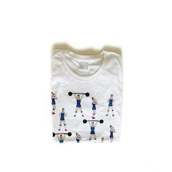 T-shirt med starka tjejer (blå) - vuxen (dam)
