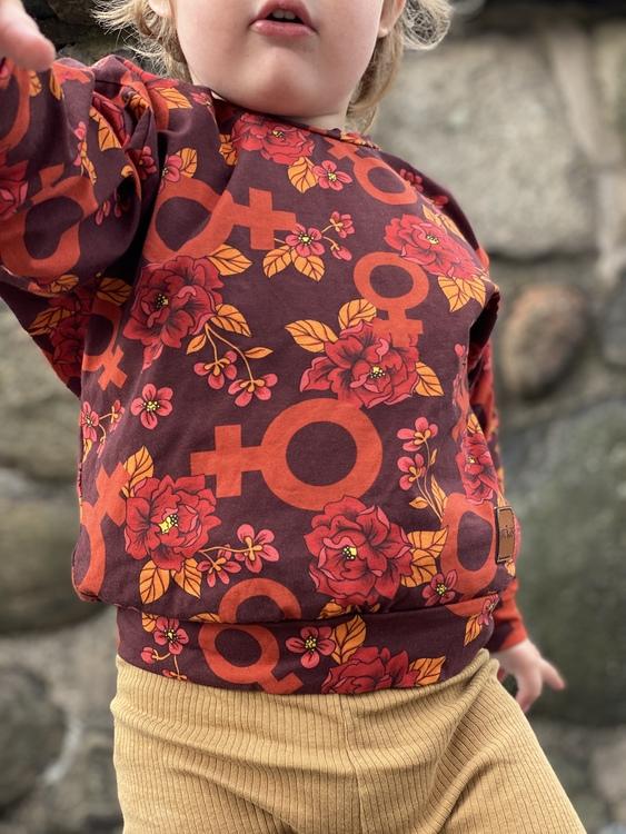 Sweatshirt - Go Girl röd