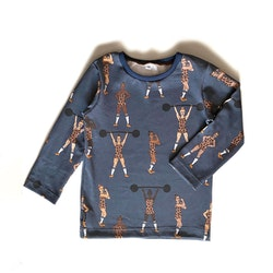 Långärmad t-shirt - Strong Girls midnattsblå
