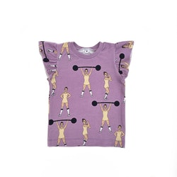 T-shirt med vingärm - Strong Girls lilac