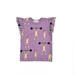 T-shirt med vingärm - Strong Girls lilac