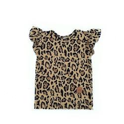 T-shirt med vingärm - Leopard