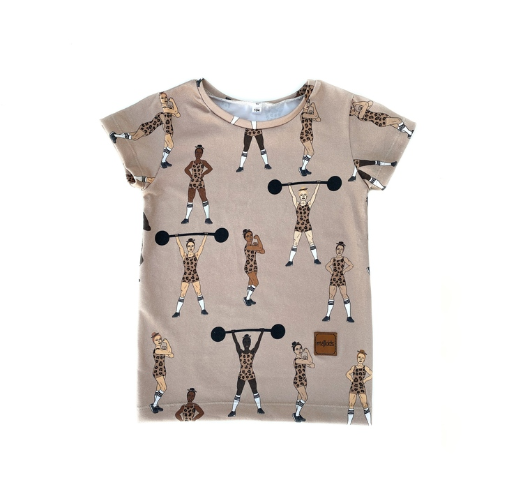 T-shirt - Equally Strong leo beige
