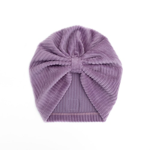 Turban -  Lilac velour med manchesterlook