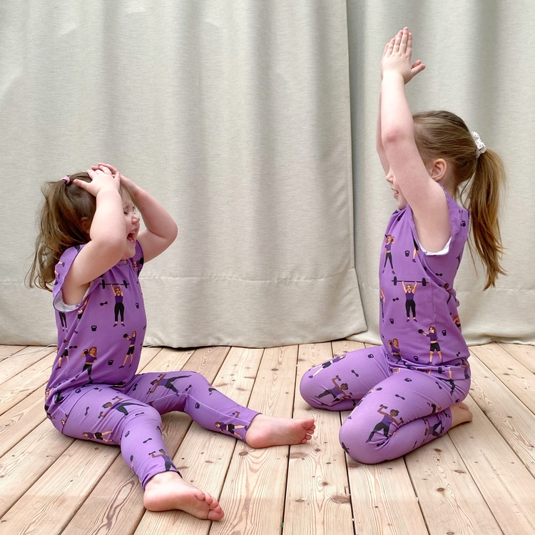 Leggings - Strong Girls 21 lilac