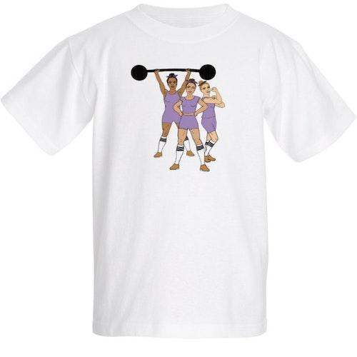 "NY! T-shirt ""Strong Together"" lila - barn"