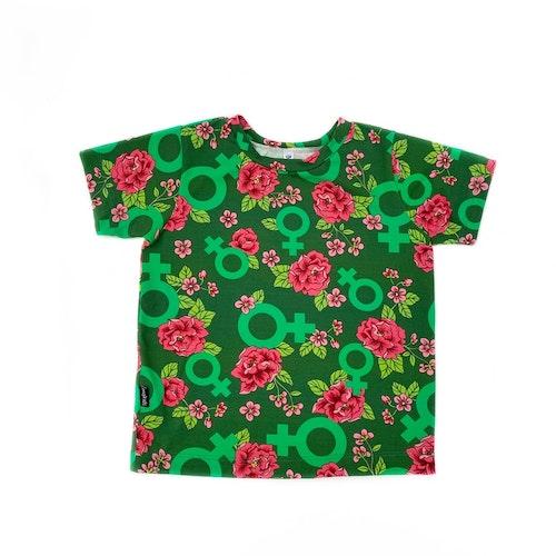 Baggy T-shirt - Go Girl grön