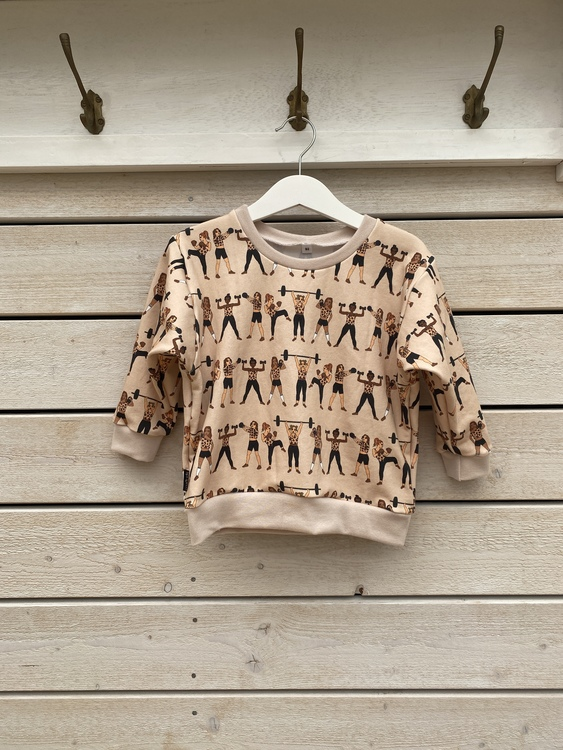 Sweatshirt - Strong Girls 21 in a row beige