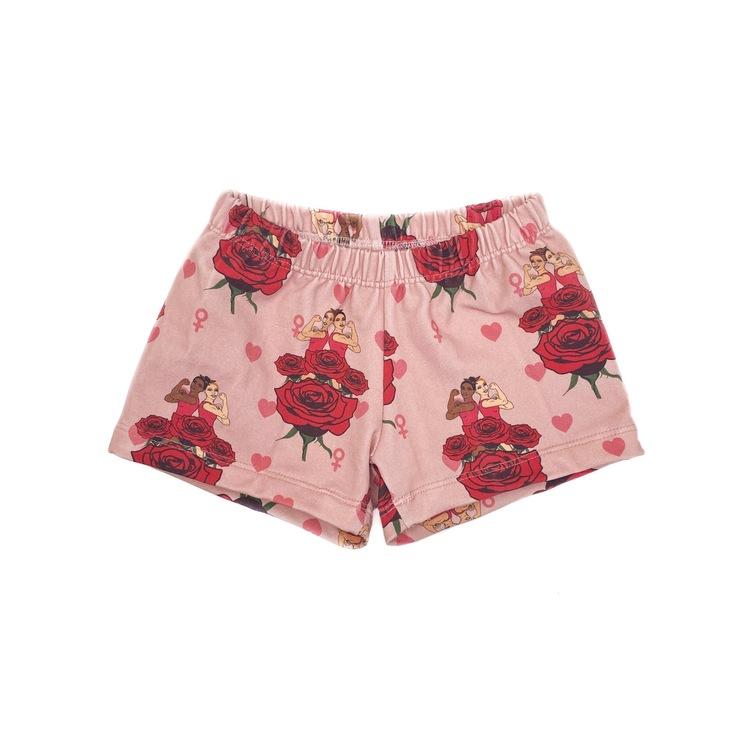 Shorts - Strong Girls roses
