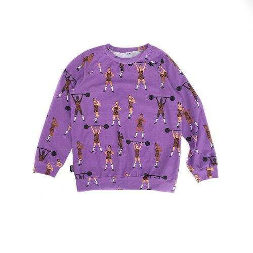 Sweatshirt Raglan - Strong Girls lilac