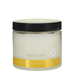 Sea Salt Body Scrub, White Linen 275ml