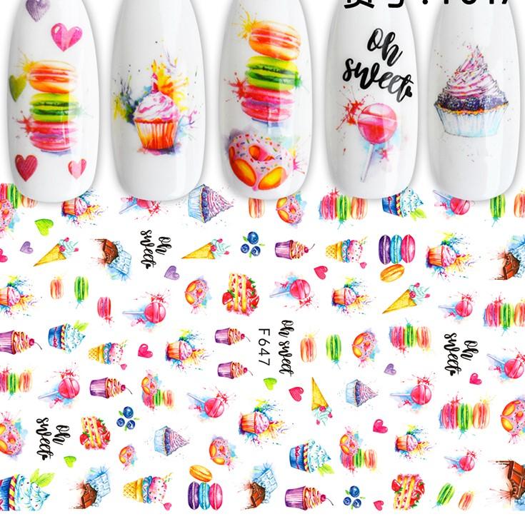 647 Dessert Stickers