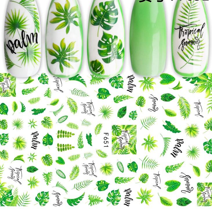 651 Gröna blad Stickers