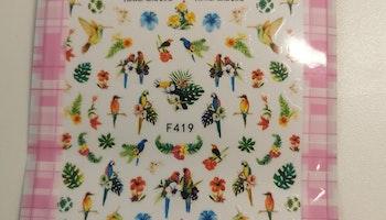 419 Tropiska fåglar  Stickers