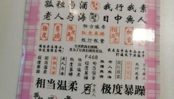 468 Asiatiska Tecken  Stickers