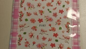 197 Rosa Blommor   Stickers