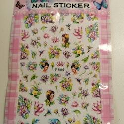 664 Lotus Blommor Stickers